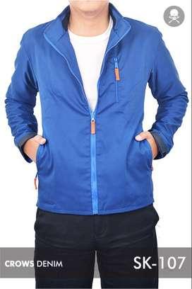 Jaket Medium Blue Casual Style.Jaket Pria Parsute
