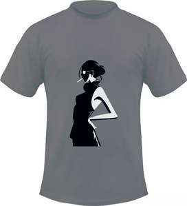 Kaos gambar kartun woman smoking, 1 desain hanya untuk 1 pembeli
