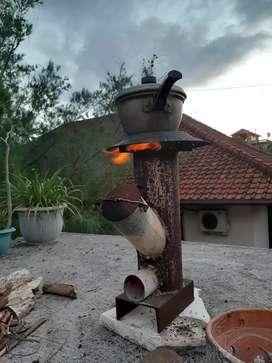 Kompor kemah (rocket stove)