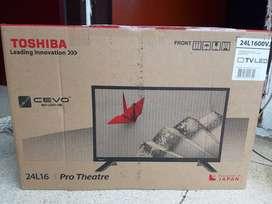 New HDTv Led 24' Toshiba tipe terbaru 100% baru dus segel garansi