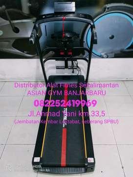 Ready treadmill elektrik 1,5hp tampilan simple & hemat, bisa dilipat