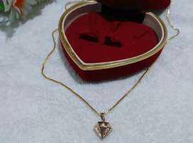 kalung Xuping liontin motif permata