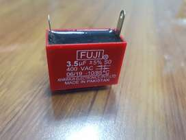 Fuji Capacitor for fan, water motors and other motors.