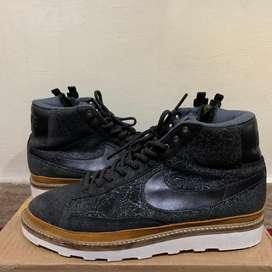 Sepatu Nike Blazer Mid Metalic Silver Custom Sole Recon