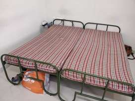 Two Steel cots