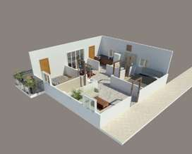 Flat for sale at 2200/- per sft