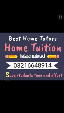 Best Home tutors available for G13, G12, G11, E11,F11,H12,H13