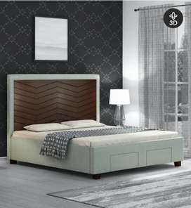 Most demanding Dauble bed with side table and table lamp