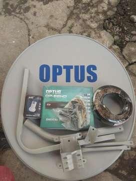 Antena Parabola Mini OPTUS OP66HD By Kvision Gratis siaran selamanya
