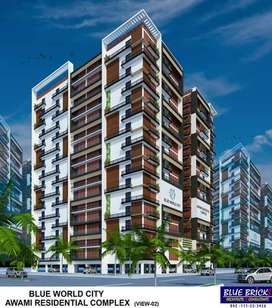 1& 2 Bed Room Available in Blue World City Awami Residential Complex.