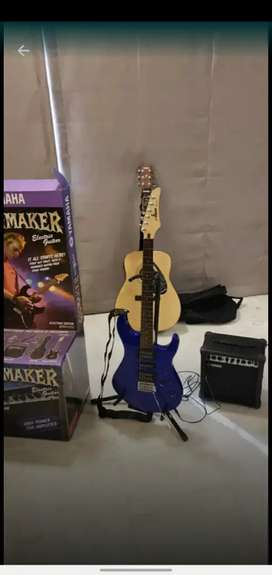 Electric Guitar Yamaha Gigmaker ERG 121C  kit with stand and amp