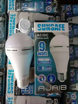 PROMO NIH-LAMPU EMERGENCY 9W SUNSAFE LUBY LAMPU DARURAT PUTIH-TERANG