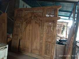 Pintu kusen gebyok kayu jati gelikan