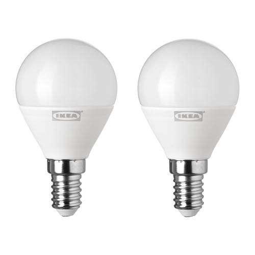 IKEA 30 RYET Bohlam LED E14 400 Lumen Bulat Putih ISI 2 PCS 0