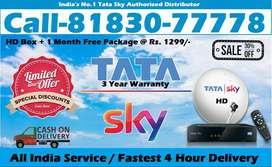 Tata sky HD connection- All India Tatasky DTH - D2H Dish Airtel TV-COD