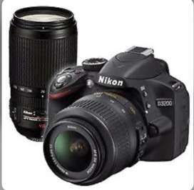 Nikon d3200 dslr camera with dual lenses