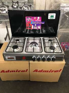 Admiral 5 burners Table Top cook top with cover available with warrant