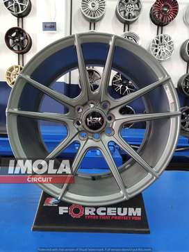 Velg mobil racing Jazz R17 HSR Cocah Ring 17 Lebar 7,5/9 Grey Yaris