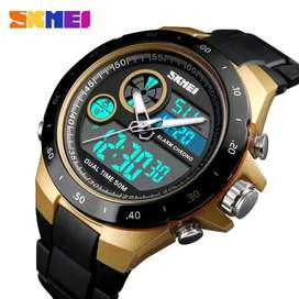 Jam tangan original SKMEI AD 1429 gold stainless tahan air 50m