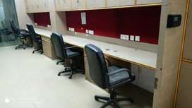 Cabin-3+Conference+20 Seat-15 Sqft fully furnished office for rent