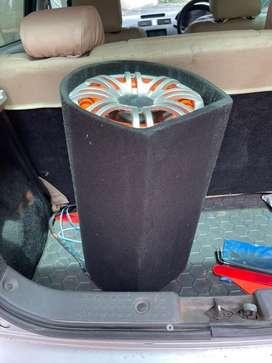 Unused speaker and woofer