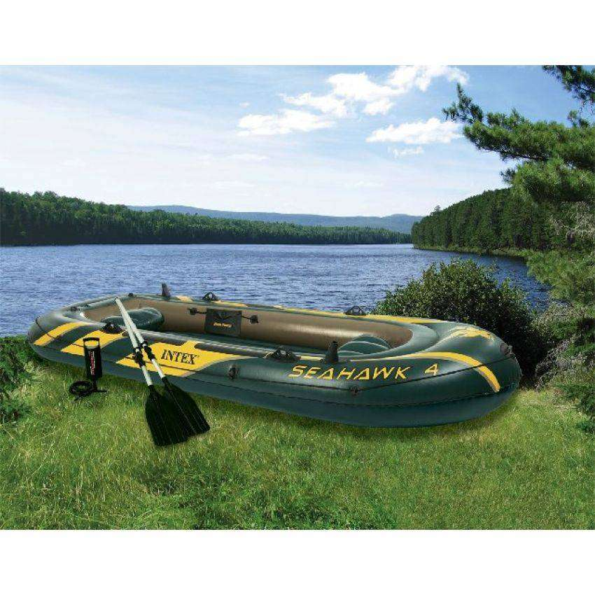 Intex Seahawk 4 Boat Set 0