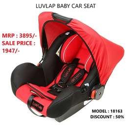 LUVLAP BABY CAR SEAT, BABY CAR SEAT, CAR SEAT, MOVABLE CAR SEAT