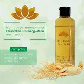 Obat Penumbuh Rambut red gingseng hair tonic Herbal Alami