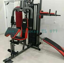 Alat olahraga Terlaris / Homegym 3 sisi beban 75kg