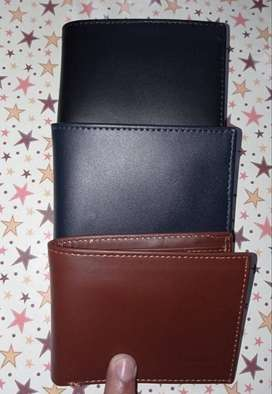 Genuine Cow Leather Wallet Dollar Size