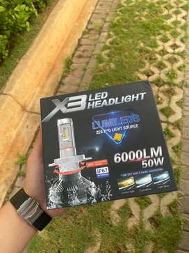 Lampu Headlamp LED Pphillips lumileds X3 socket H11