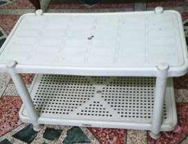 Ladder 6 step, Center table plastic, chair, wooden stools, storage bin