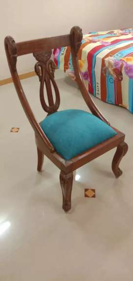 Wooden chairs 5 pcs antique look