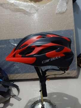Helm sepeda Cairbull fungo red black ada lampu belakangnya