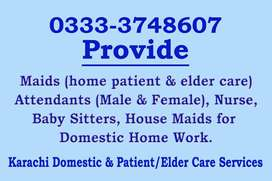 responsible home patient and elder care candidates available