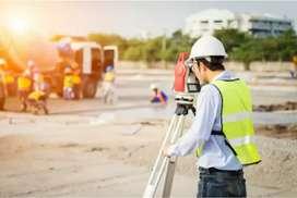 Civil engineer site maintaining according to plan