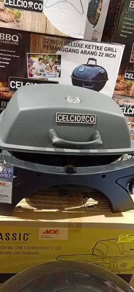 gas grill portable grey