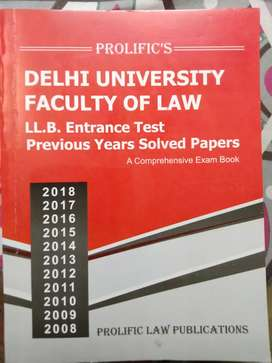 DU Law LLB Entrance Papers Solved. Years 2008 to 2018.