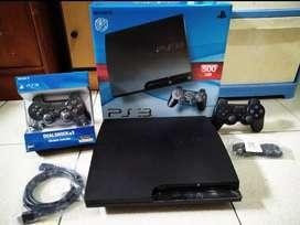 PS3 Slim Spek Dewa 500GB (bukan OFW)+2 Stik Full 100 games