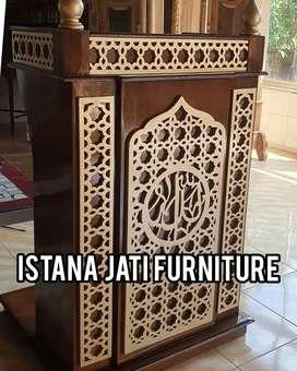 Podium Mimbar masjid khutbah ceramah tausiyah