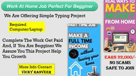 data entry work for part time job from home bases
