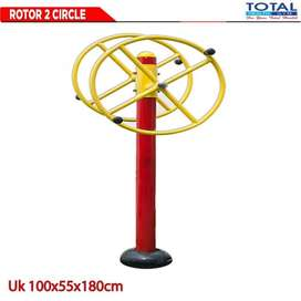 Alat Fitness Rotor 2 Circle Total Fitness Outdoor Fitness Taman