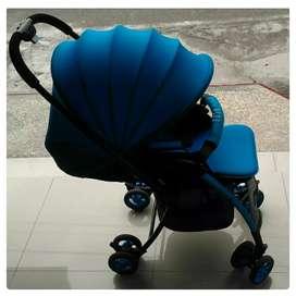 Stroller / Kereta Bayi Baby Elle Delray Neon (Bekas)