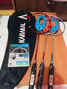 Dijual raket badminton karakal tipe pure power 10,9, dan 8 original UK