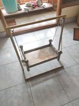 Steel Pooja Cradle (Oonjal) for