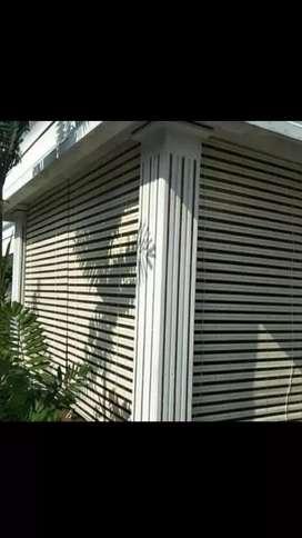 Krey kayu motif outdoor 1120