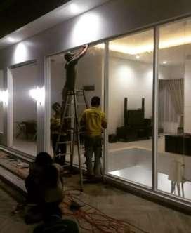 Pemeasangan pintu kaca tempered glass .224