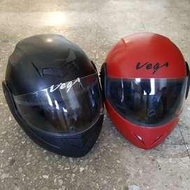 Two Vega Helmets for Immediate Sale