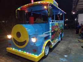 Kereta mini coaster odong odong single/double gerbONG raa