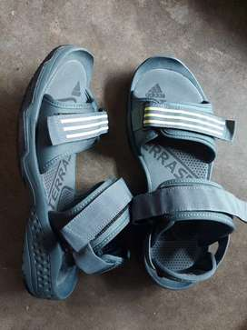 Adidas Blue & Green Striped Sports Sandals
